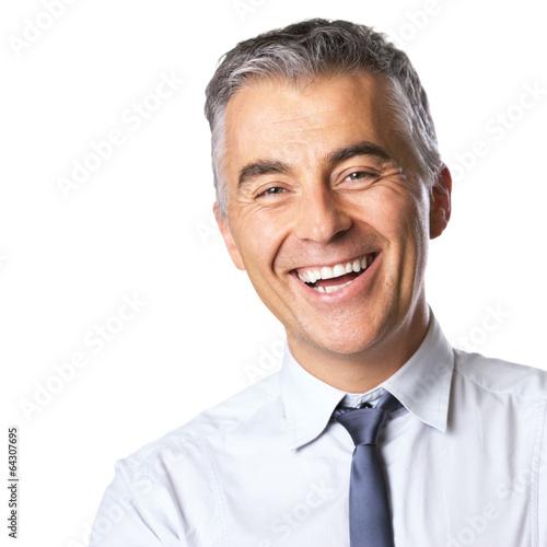 Attractive smiling businessman