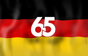 Germany 65 Flag Design