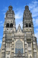 Gothic cathedral of Saint Gatien in Tours, Loire Valley  France
