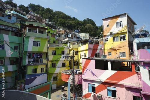 Leinwanddruck Bild Favela Santa Marta Rio de Janeiro Brazil