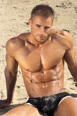 Hot guy at beach