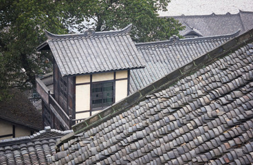 Chinese Tile-roofed House