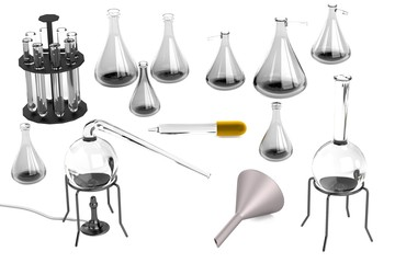 realistic 3d render of laboratory equipment