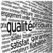 """Thème """"QUALITE"""" (qualité garantie service client satisfaction)"""