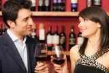 Couple toasting wineglasses