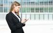 Woman using a digital tablet