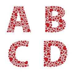Heart Alphabet Font