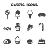 Fototapety sweets icons