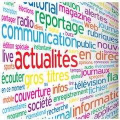 """Nuage de Tags """"ACTUALITES"""" (médias blogs informations en direct)"""