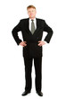 A full length portrait of businessman standing