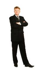 A full length portrait of businessman standing