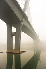 Yangtze River Bridge in Haze