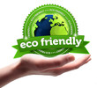 eco friendly! Button, icon