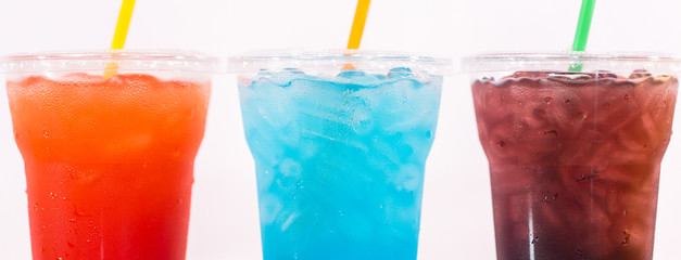 Multi-color cool soft drink