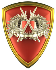 shield with coat of arm