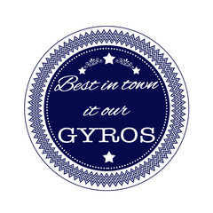 best in town it our gyros stamp