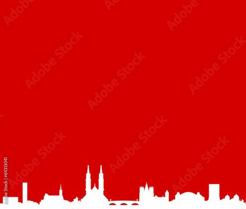 Skyline Basel rot