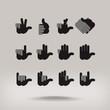 Hand. Vector format