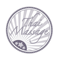 thai massage stamp