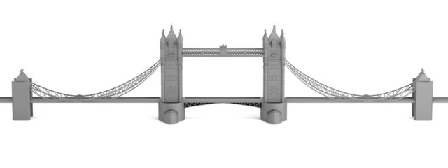 realistic 3d render of tower bridge model