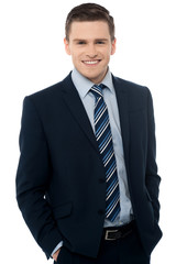 Young business man, isolated on white