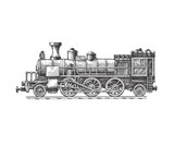 Steam locomotive. Vector format