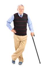 Senior gentleman with cane