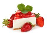 Fototapeta strawberry cheesecake