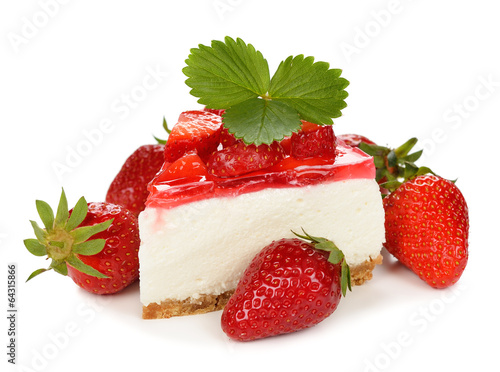 Foto op Canvas Dessert strawberry cheesecake