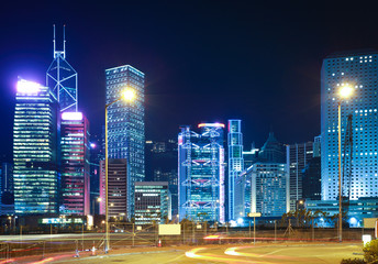 Night view of Hong Kong's landmark