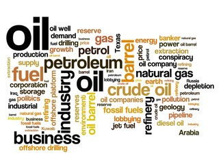 Fossil fuels - word cloud