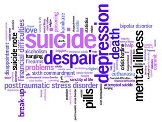Suicide - word cloud