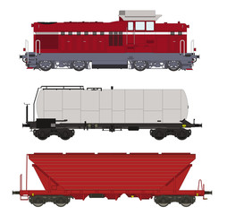 Locomotive and wagons