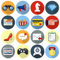 vector flat icons  for web ad application set 3