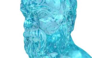 Socrate, figura forma d'acqua, splash