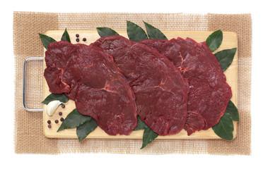 Fette di carne di cavallo