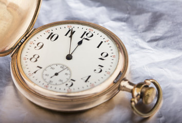 Golden pocket watch