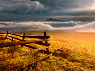Fence - Durmitor National Park in Montenegro