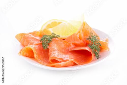 Papiers peints Poisson salmon and dill