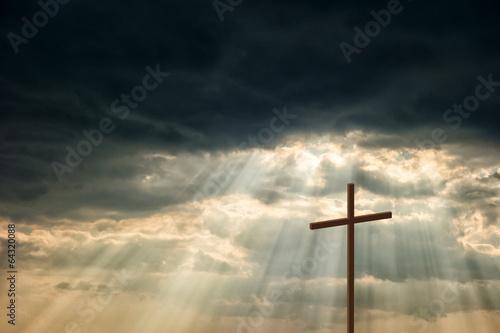 Poster Wooden cross