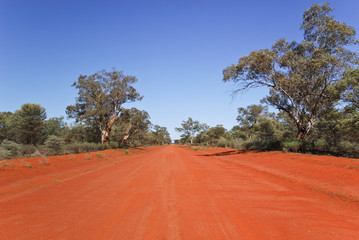 Unsealed road in Gundabooka National Park