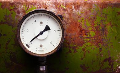 Vintage pressure meter