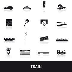 train and railway icons eps10