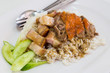 roast pork and duck rice