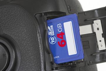 SD-Karte in Digitalkamera