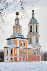 Church of Kazan Mother of God in Uglich in winter, Russia