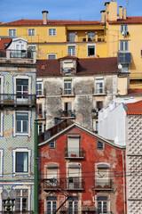 Colorful Houses in the City of Lisbon