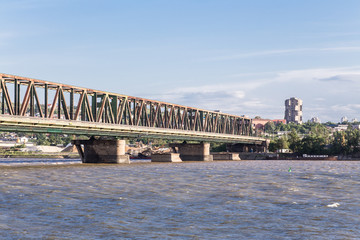 Pancevo bridge on Danube river (Pancevacki most)