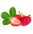 canvas print picture - Frische Erdbeeren