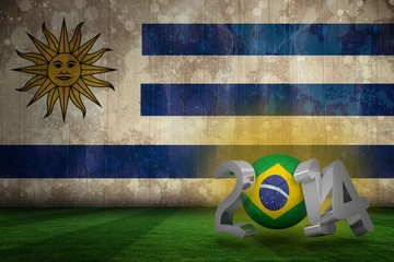 Composite image of brazil world cup 2014